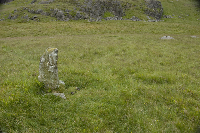 Boundary stone between Green Crag and Crook Creag