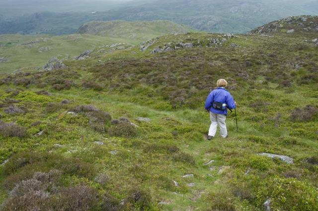 Descending Crook Crag