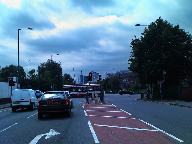 The junction of Langworthy Road and Eccles New Road