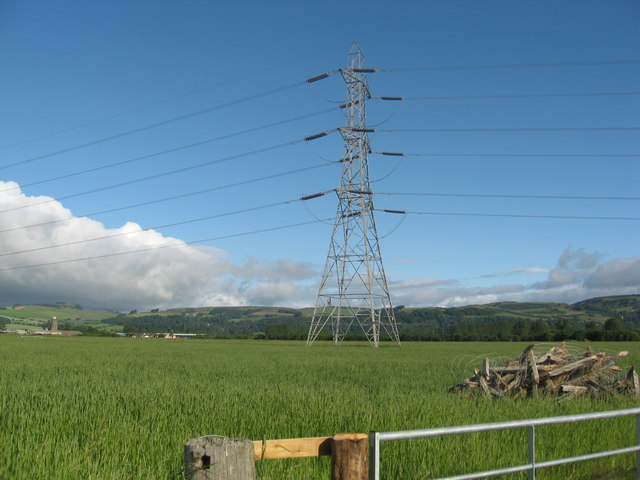 Pylons in the Carse of Gowrie