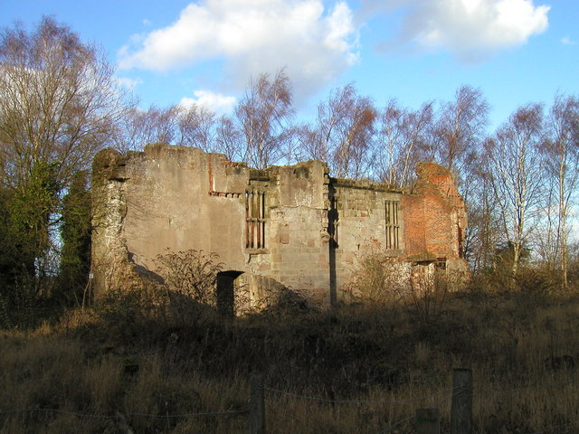 Remains of Beaudesert Hall, Cannock Wood
