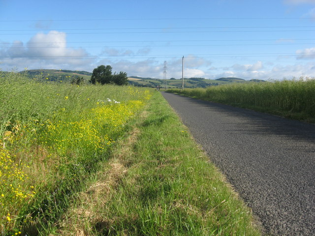 Heading North out of Grange in the Carse of Gowrie