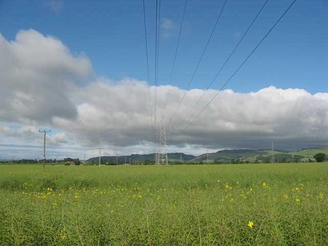 Pylons North of Grange in the Carse of Gowrie