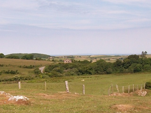 View north across the Horon Valley to Graigwen