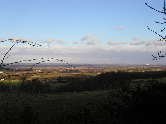 View from Beaudesert Hall across the Trent Valley