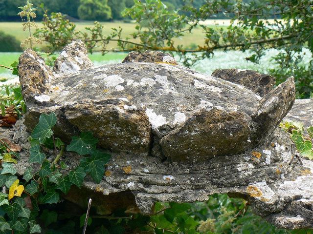 Coping stone, Hartham Lane, Corsham