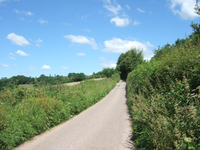 The road to Poughill