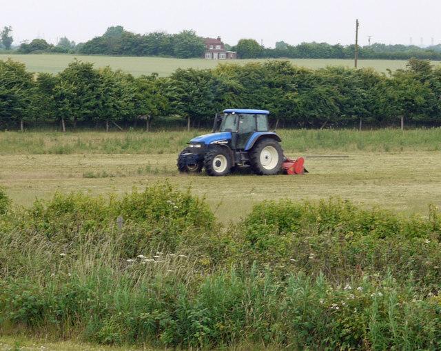 Mowing near Thornton Abbey Station