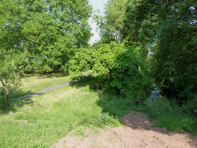 Remains of a moat at Brockhurst