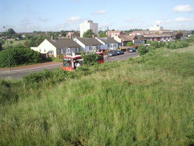 Bus stop next to Whitehall Lane Open Space