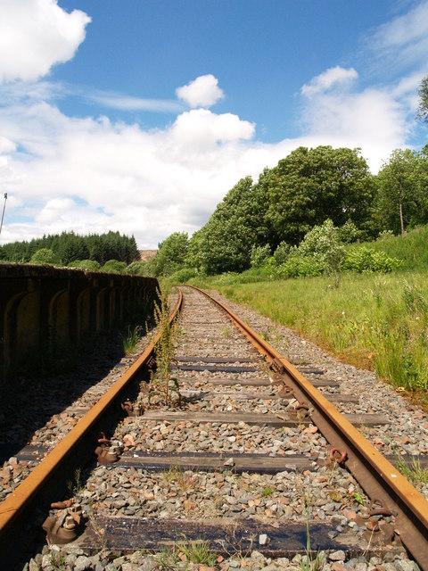Riccarton Junction - Track at Platform
