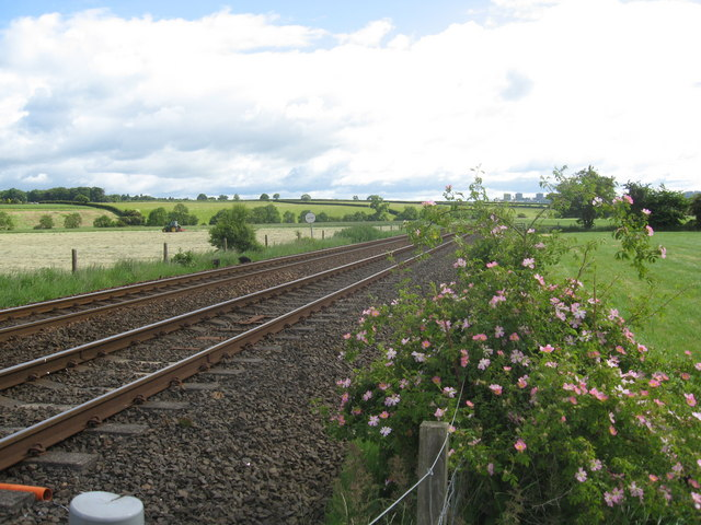 Railway line heading East to Invergowrie