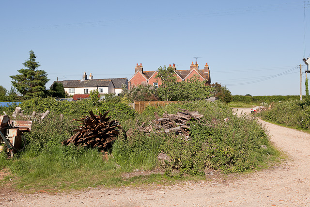 Houses on the B3347 at Kingston