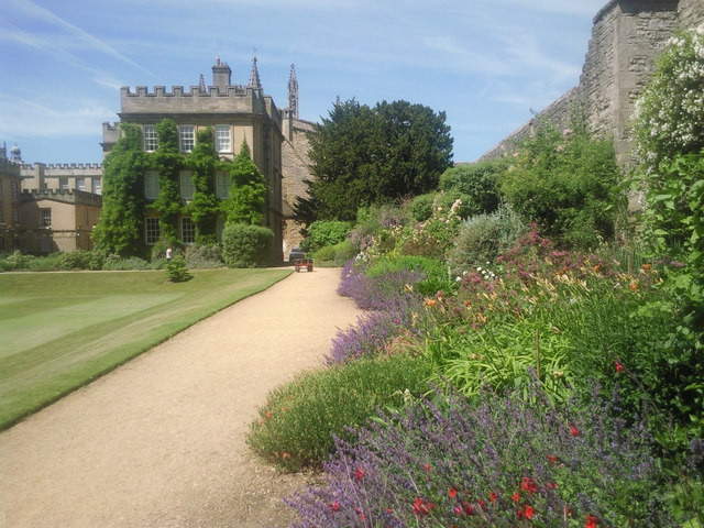 The gardens at New College, Oxford