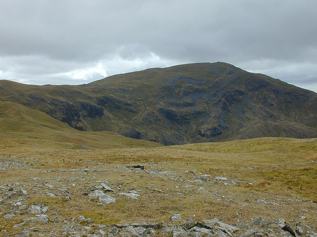 View towards Pen Pumlumon Fawr from Pen Cerrig Tewion