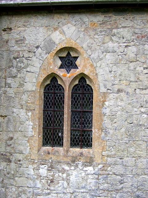 Meline church: star of David window