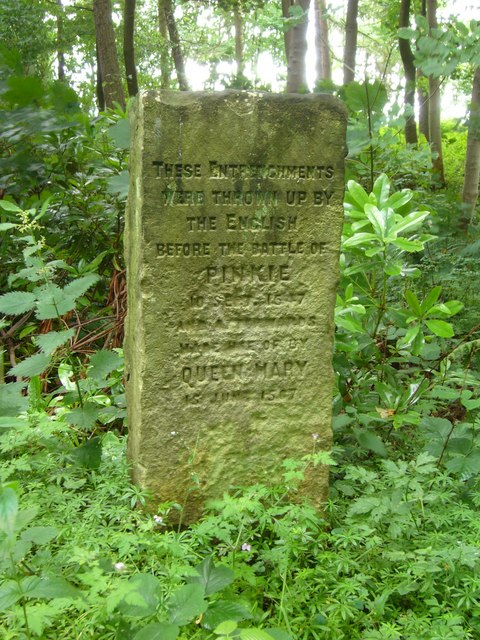 Victorian marker stone at Carberry