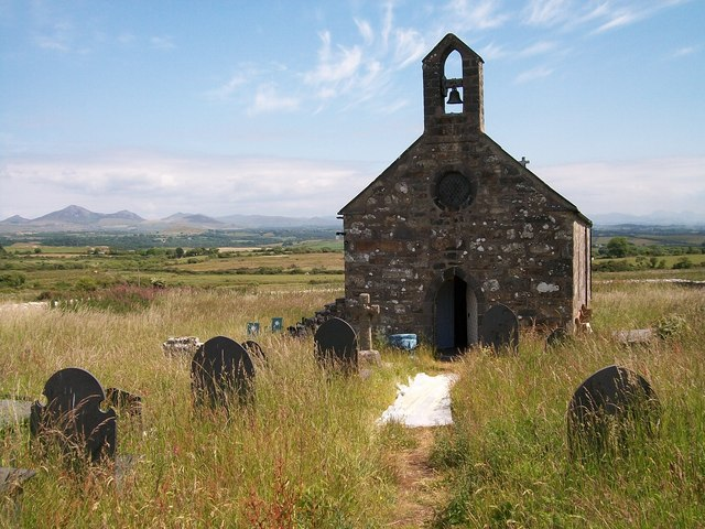 The church at Llanfihangel Bachellaeth