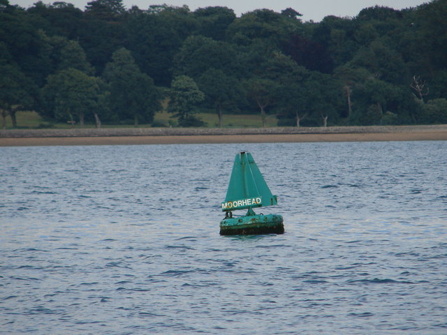 Moorhead starboard channel buoy and foreshore
