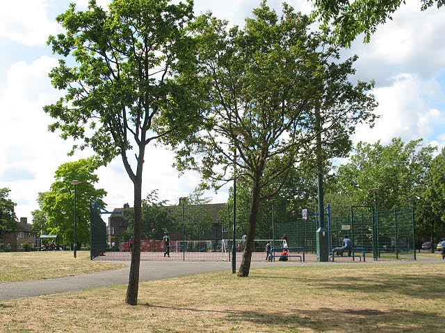 Football pitch at Bellingham Green