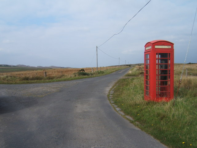 Telephone box without labels