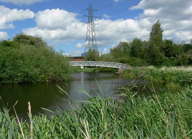 The River Biam and footbridge 108C