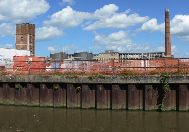 Industrial scene along the Grand Union Canal