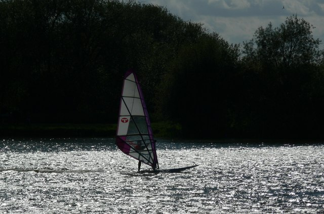 Windsurfer at the Watermead Country Park