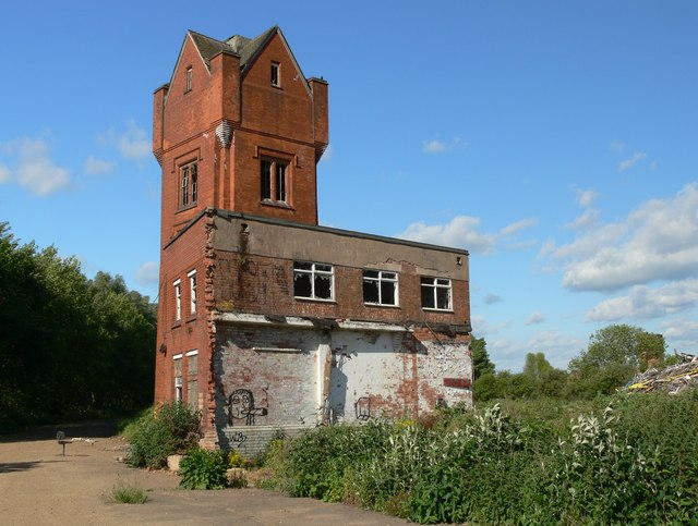 Derelict tower on the Abbey Meadows