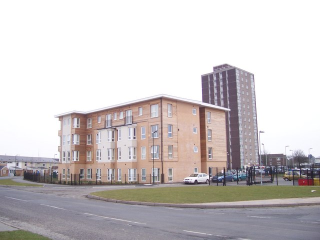 Chantry Towerblock and the new White Willows building