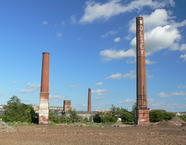 Wolsey chimneys at Abbey Meadows