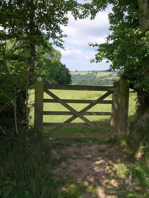 Gate on the bridleway
