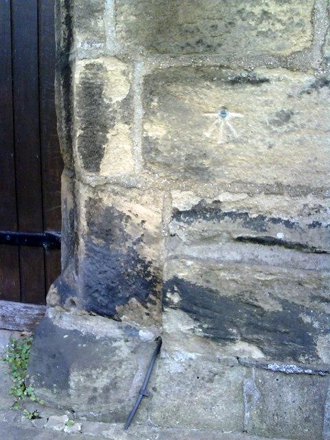 Benchmark on All Saints Church, Bingley