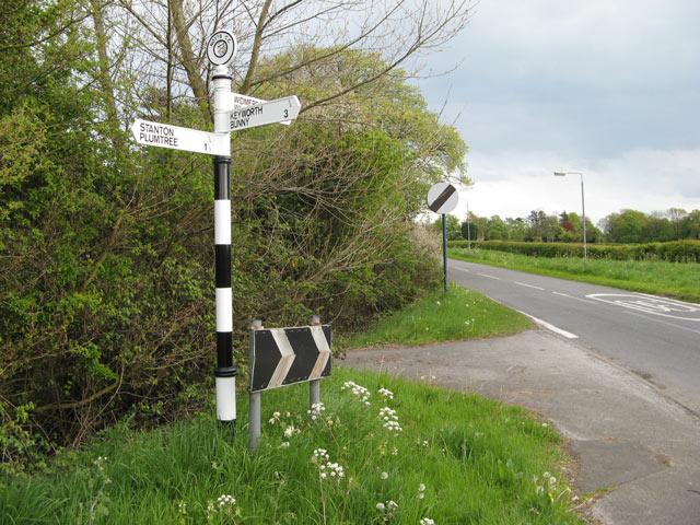 Notts CC signpost