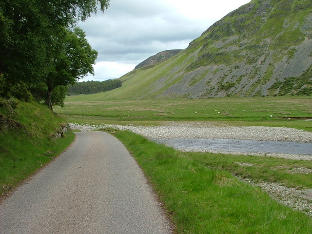 Road to Garbole and the River Findhorn