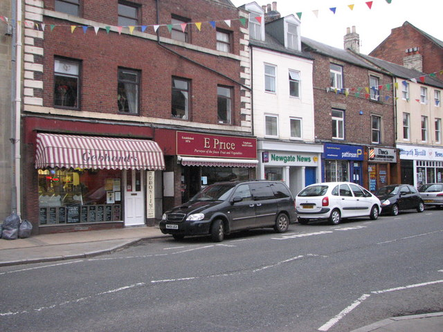 Row of shops, Morpeth