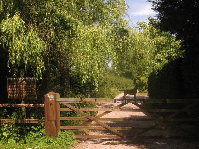 Gate to Round House Farm