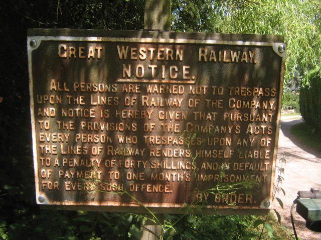Great Western Railway Notice