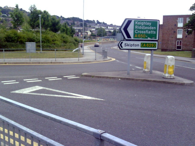 Road junction and signs
