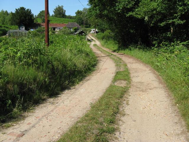 Bridleway through Heyshott Green