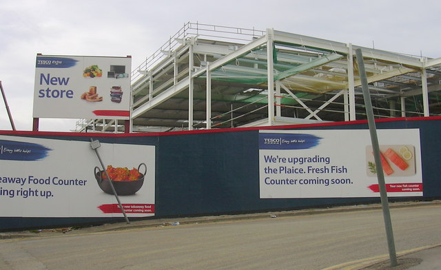 Building the new Tesco, Eagle Street