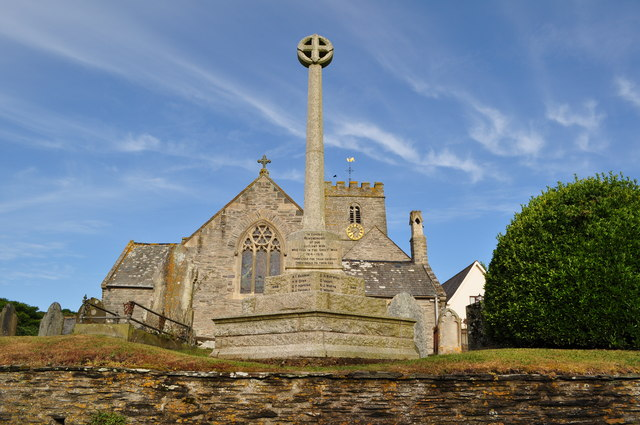 The Parish Church and War Memorial, Mortehoe