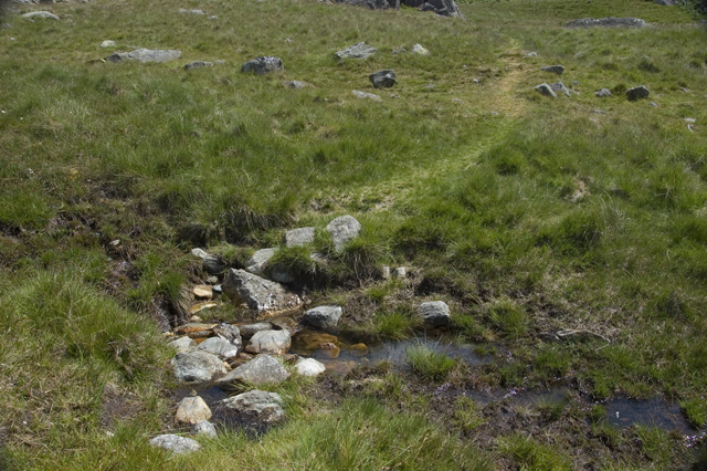 Footpath across small beck above Foss How