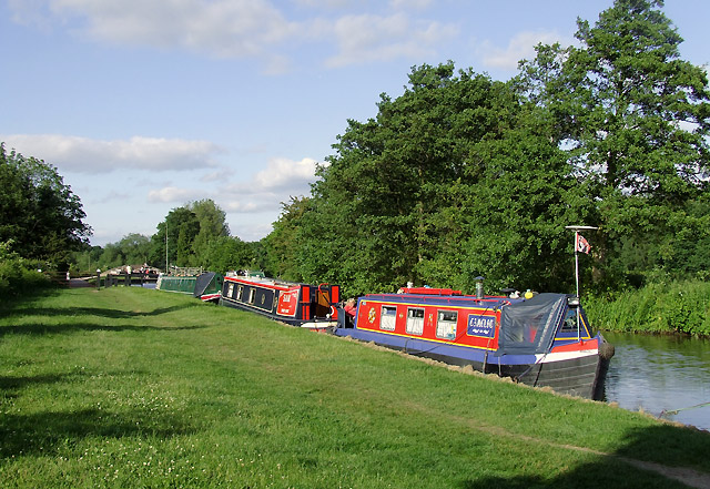 Moorings at Fradley, Staffordshire