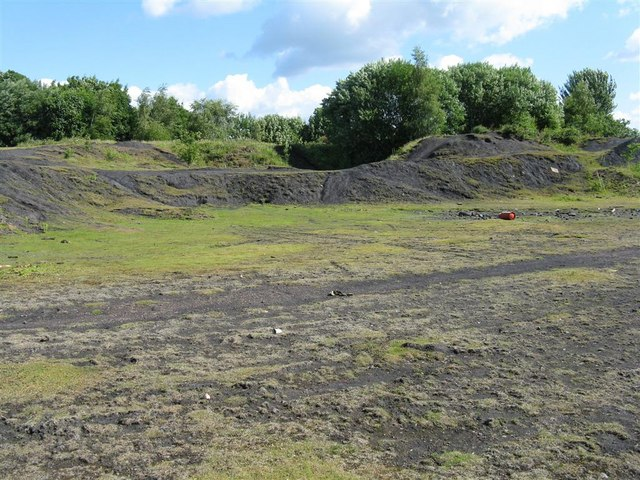 Remains of coal spoil tip at Niddrie