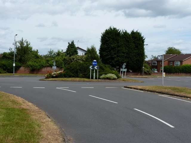 Roundabout on Perton estate