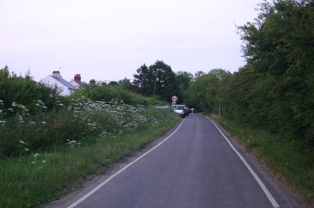 Entering Bamber's Green