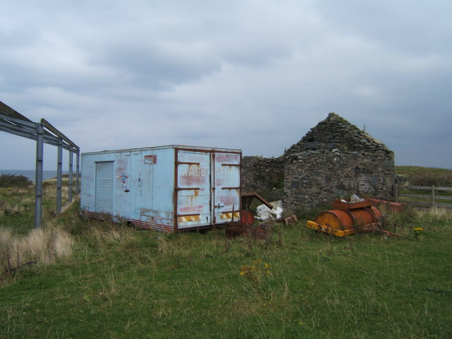 Barn framework and old Macbrayne container