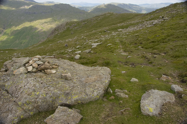 Footpath to Little Carrs and Hell Gill Pike