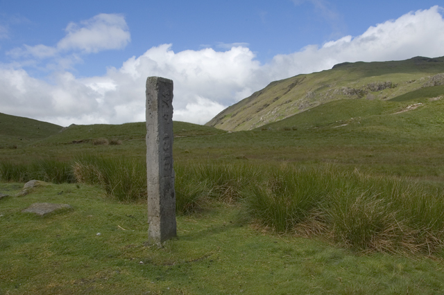 The Three Shire Stone, Wrynose Pass